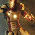"Tony Stark dons the new ""Mark XLVII"" armor for Iron Man 3."